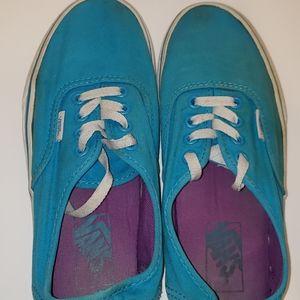 Vans Unisex Neon Blue Canvas Shoes M - 5, W - 6.5
